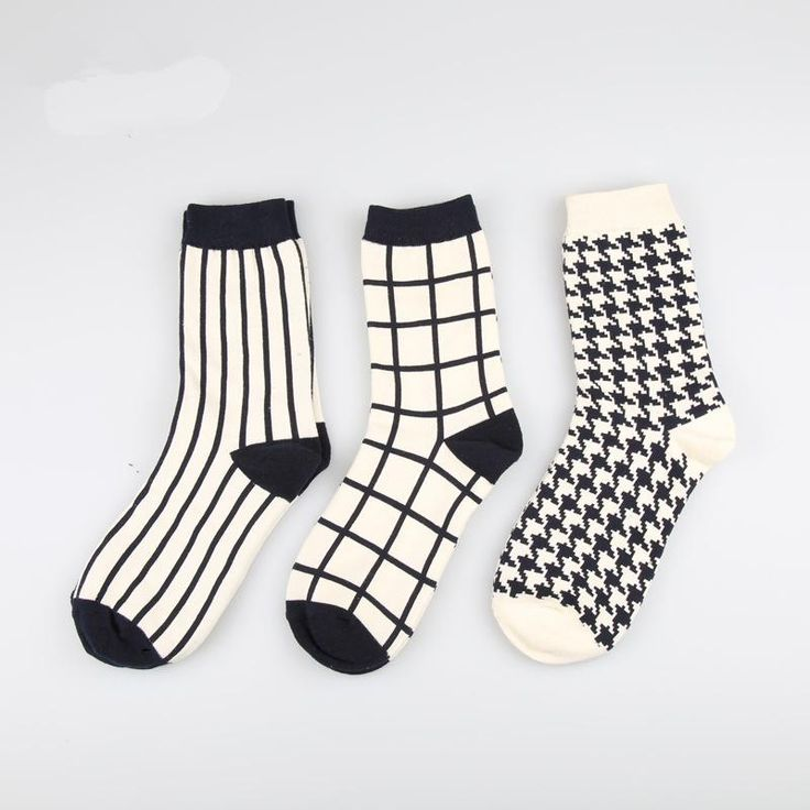 3 IN 1 England Style Pattern Design Socks Box