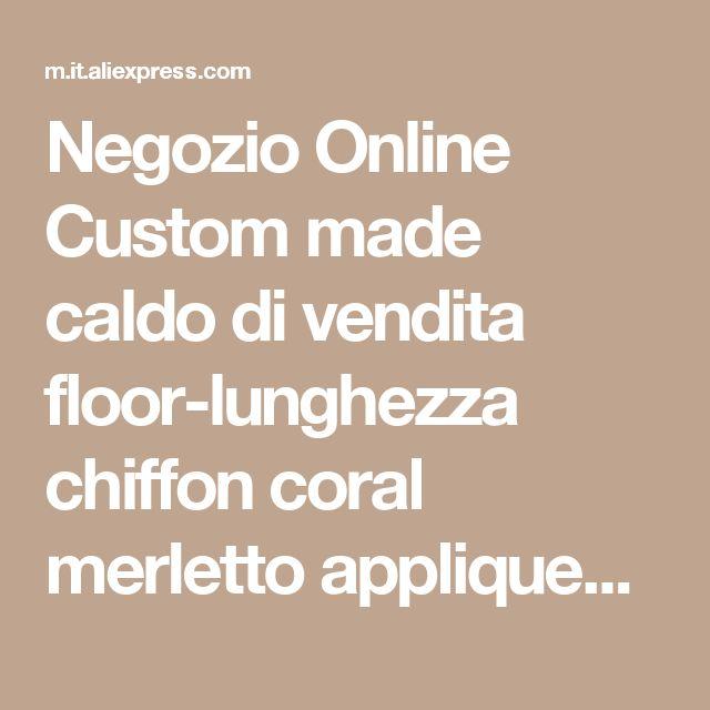 Negozio Online  Custom made caldo di vendita floor-lunghezza chiffon coral merletto appliqued arabo dubai abaya caftano vestiti da sera con manica lunga jq3309   | Aliexpress mobile