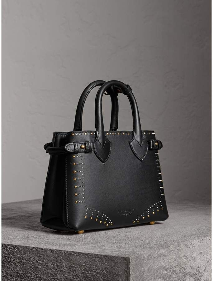 cde128e2b93 Burberry The Small Banner in Riveted Leather