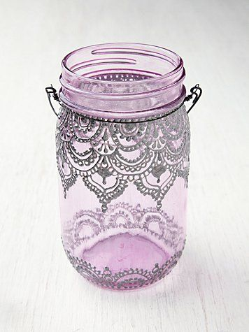 Mason Jar Lanterns....DIY it with a silver sharpie?