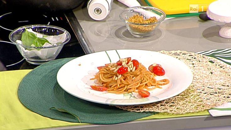 Spaghetti al pesto di 4 pomodori di Sergio Barzetti