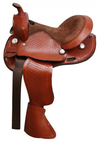 10 / Chestnut Round Skirtted pony saddle made by Double T Saddlery