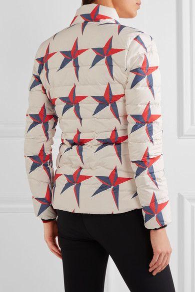 Perfect Moment - Mini Duvet Ii Printed Quilted Down Ski Jacket - White - medium