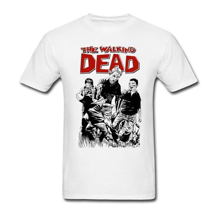 Disaster Film Hipster T-shirt Mens Gray XS-3XL Size array Customized The Walking Dead for Men