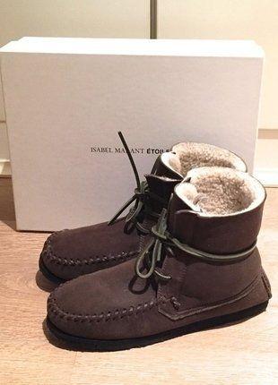 Kaufe meinen Artikel bei #Kleiderkreisel http://www.kleiderkreisel.de/damenschuhe/stiefeletten/142227237-isabel-marant-lammfell-stiefeletten-38-braun-wildleder-mokassin-boots-stiefel