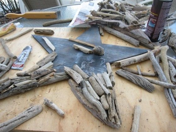And more driftwood to find on the beach....How to make a driftwood star