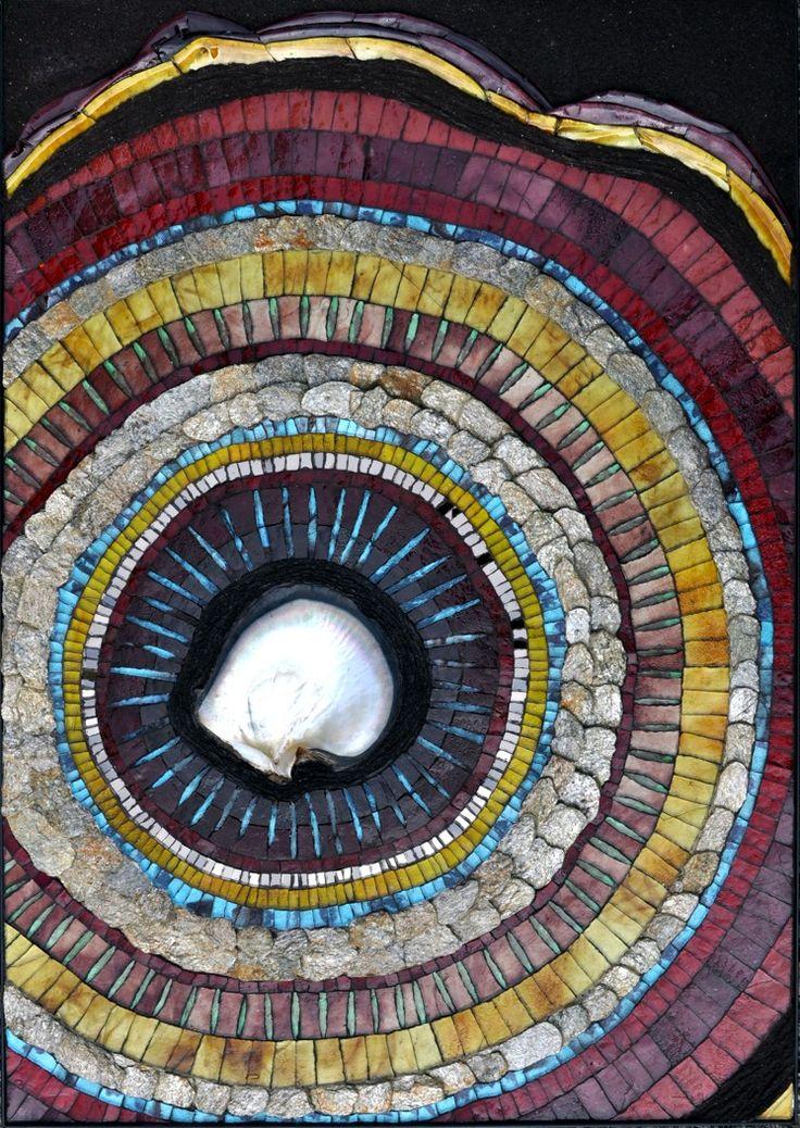 atelier martine blanchard artiste mosaiste galerie acier dcoup trvail mtal mosaque de pierres bretagne st goustan - Idees Mosaiques Image