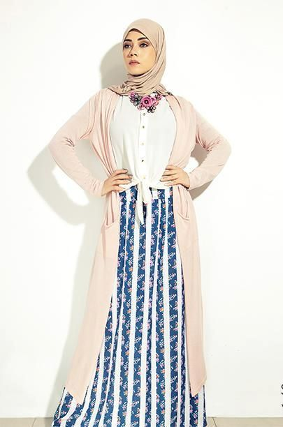 pastel long cardigan outfit, 27dresses Eid collection http://www.justtrendygirls.com/27dresses-eid-collection/