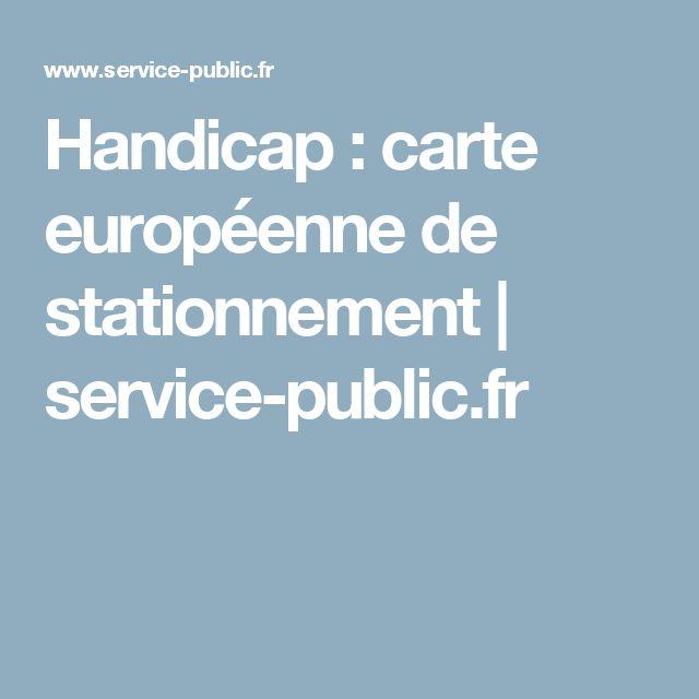 Handicap: carte européenne de stationnement | service-public.fr