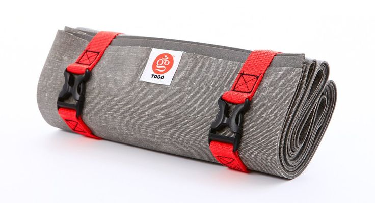 yoga travel mat with straps for hanging to dry after washing $68