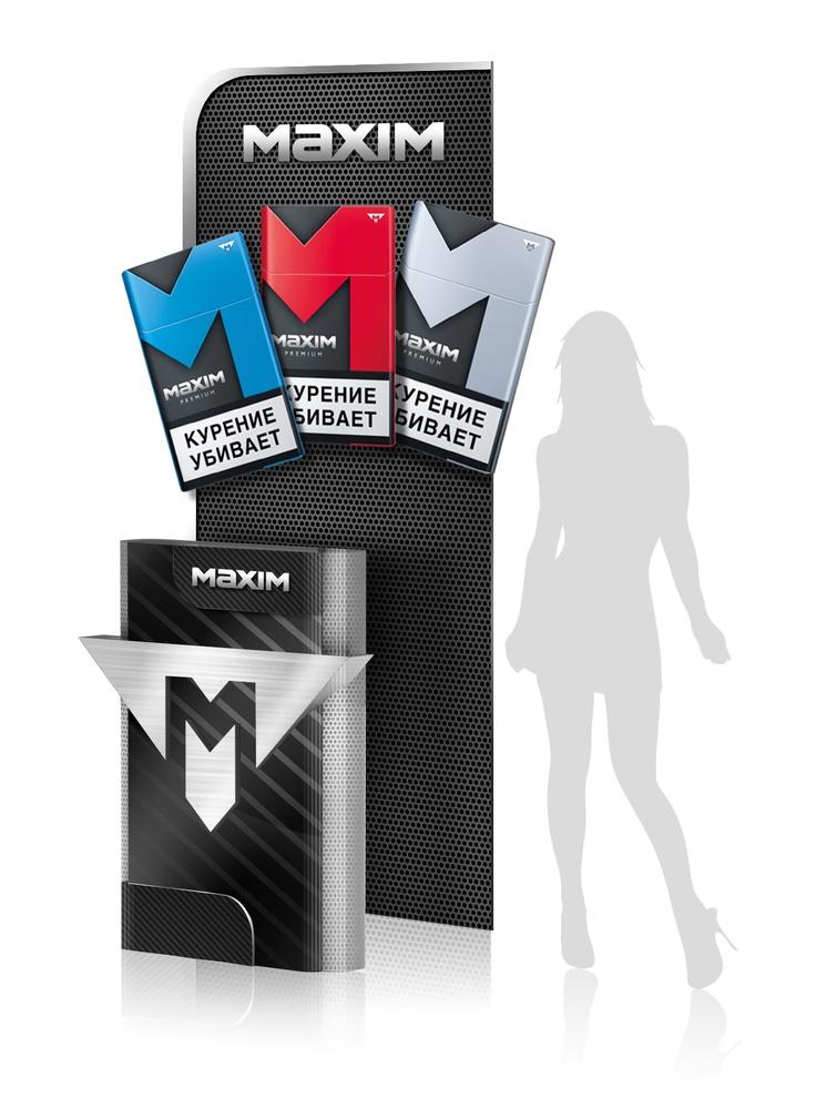 Promotional stand. Maxim cigarettes. #design #portfolio