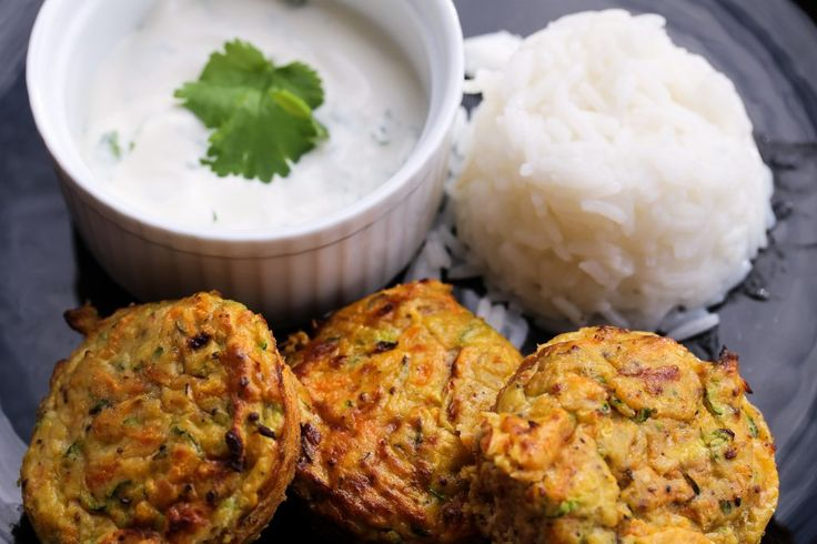 Veggie fritters made in the muffin pan!