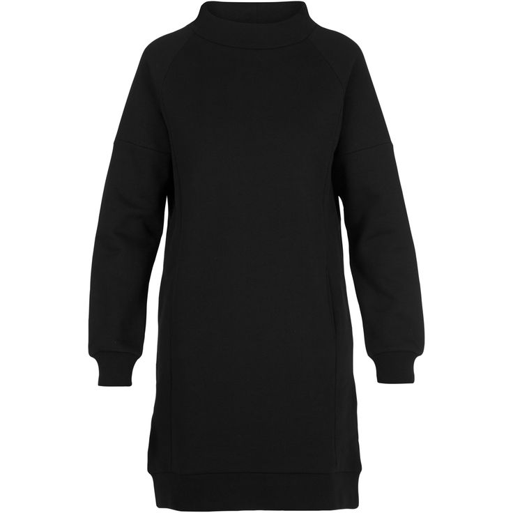 Getto sweat dress #soft #sweatshirt #dress #collar #casual #look #great #black #warm