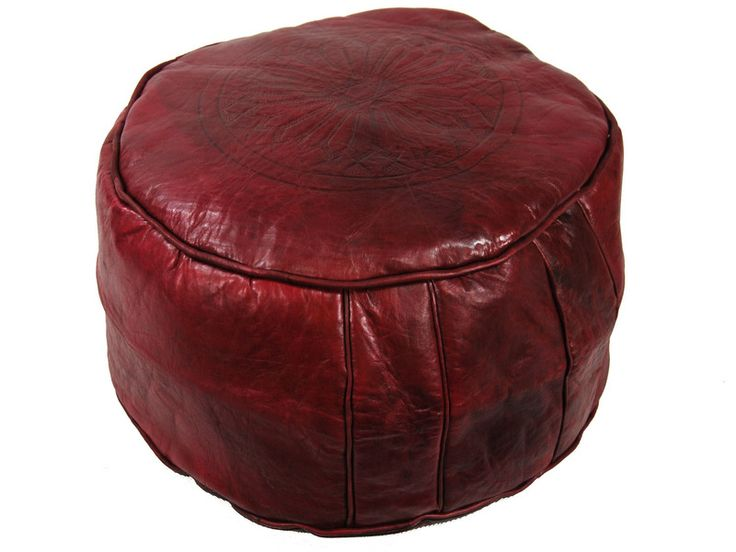 Dark red lather seat from Moroccohttp://www.etnobazar.pl/shop/etnoswiat/profile/search/ca:pufy
