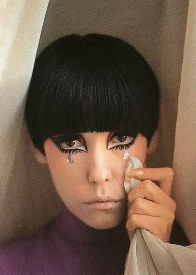 Peggy Moffitt - was a well-known high fashion model in the 1960s