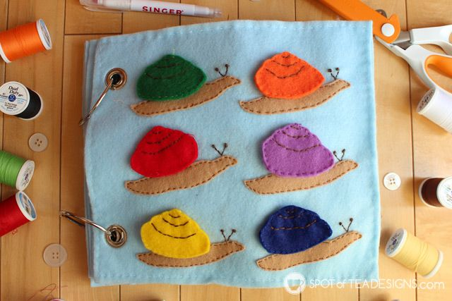 Under the Sea Quiet Book with #Free Template: Colorful Snails | spotofteadesigns.com