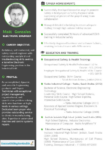 electronics engineer resume samples pinterest - Professional Resume Format