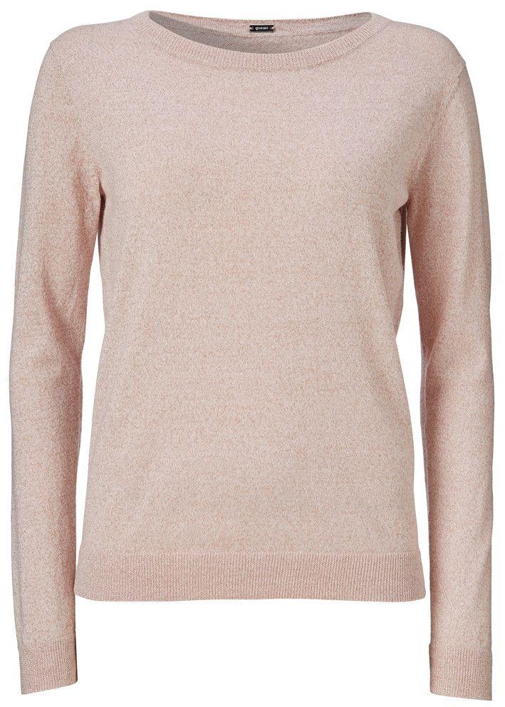 Gustav Basic Lurex Sweater 16414 Rose - Mohairstrik rosa – acorns