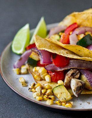Fresh grilled veggie tacos. #vegetarian #healthyfood