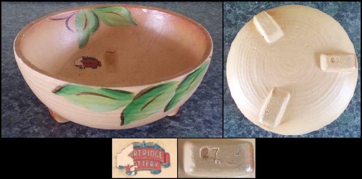 Glen Afton shape 27 Partridge Pottery sticker