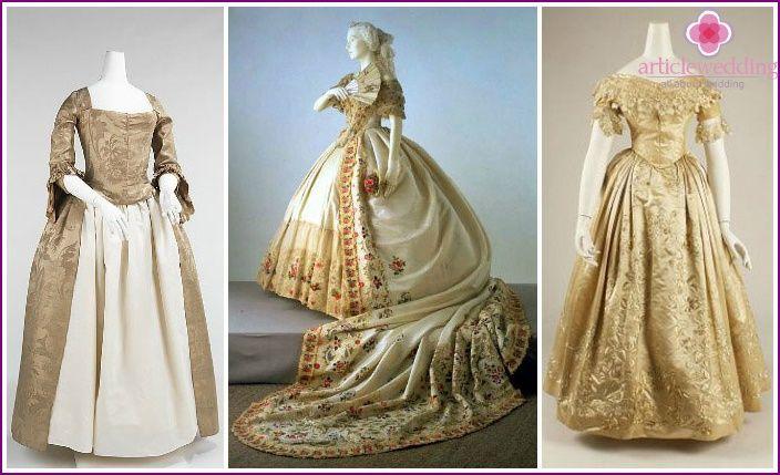 abiti da sposa d'epoca - panoramica dei modelli e stili di diversi secoli con le foto