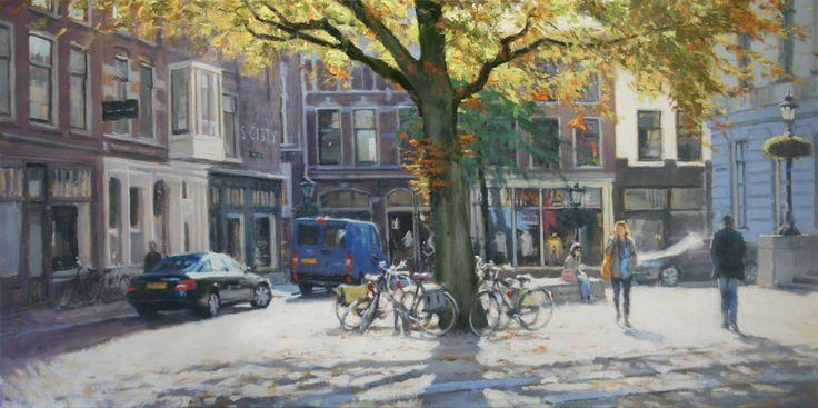 Herfstlicht | oil on linen painting by Richard van Mensvoort