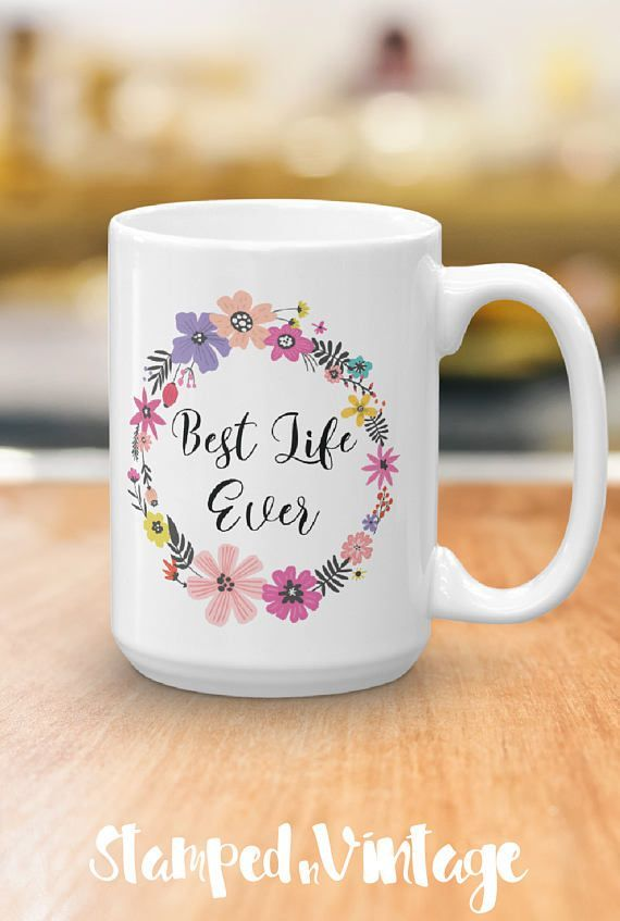 Best Life Ever Coffee Mug - JW Gift - Pioneer Gift - Coffee Lovers Gift - JW Baptism Gift - Pioneer School Gift - Inspirational Mug  I just love the saying Best Life Ever,  and I thought how fun it would be to start the day with that as a reminder. Whether you are drinking your morning coffee, your evening tea, or something in between – this mug is for you or would make a lovely gift for a friend! #JWgift #JW #BestLifeEver