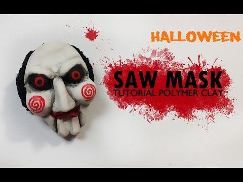 Halloween // Saw Mask Polymer Clay Tutorial/ Máscara de Saw Arcilla Polimérica - YouTube