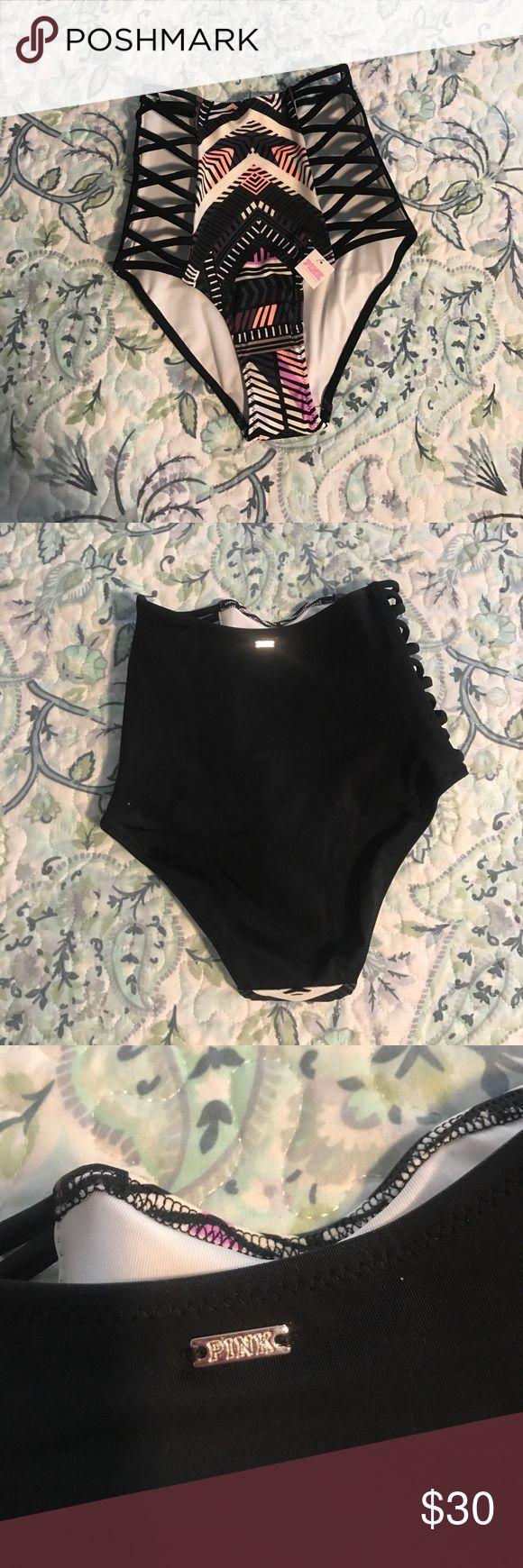 NWT PINK high waist bikini bottom NWT PINK high waist bikini bottom, size xs PINK Victoria's Secret Swim Bikinis
