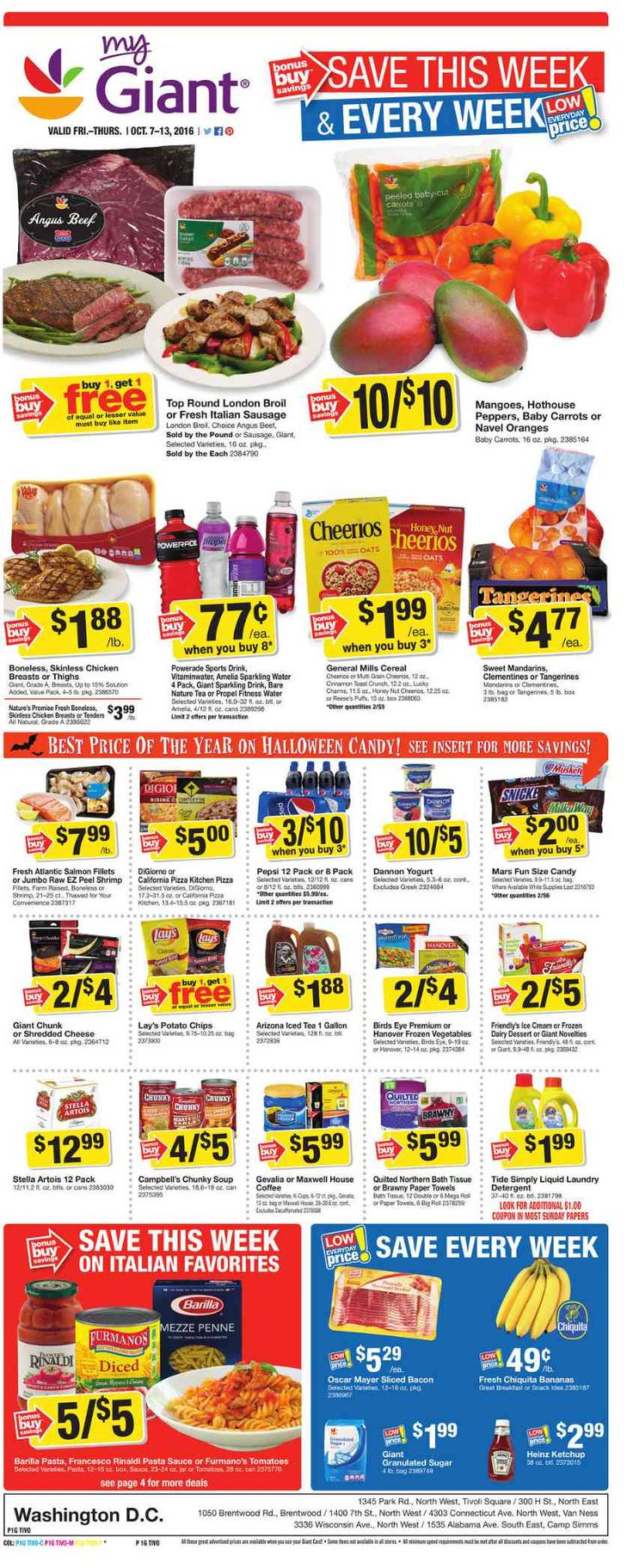 Giant Food Weekly Ad October 7 - 13, 2016 - http://www.olcatalog.com/grocery/giant-food-weekly-ad.html