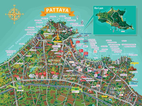 Pattaya map on Behance | map | Pinterest | Galleries, Maps ...