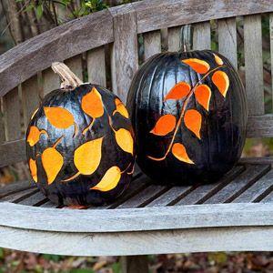 Black Magic: Pumpkin Ideas, Halloween Decor, Black Pumpkin, Black Magic, Holidays Crafts, Fall Ideas, Halloween Pumpkin, Carvings Pumpkin, Halloween Ideas