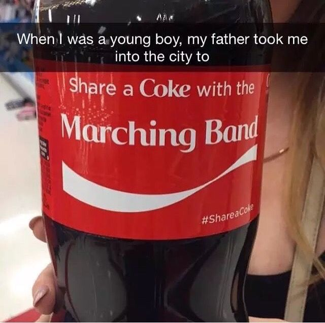 "he said,  ""son I must tell you that I happen to love Coke more than you so you may as well just kill the band and pass it off as an idea crushing the hopes and dreams of many members of the MCRmy because why not""  *cries while clutching a calendar with March 22 circled in red ink*"