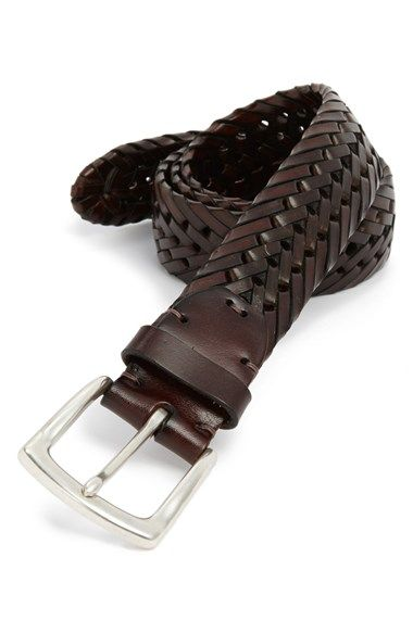 Woven leather belt in dark brown- perfect for everyday!