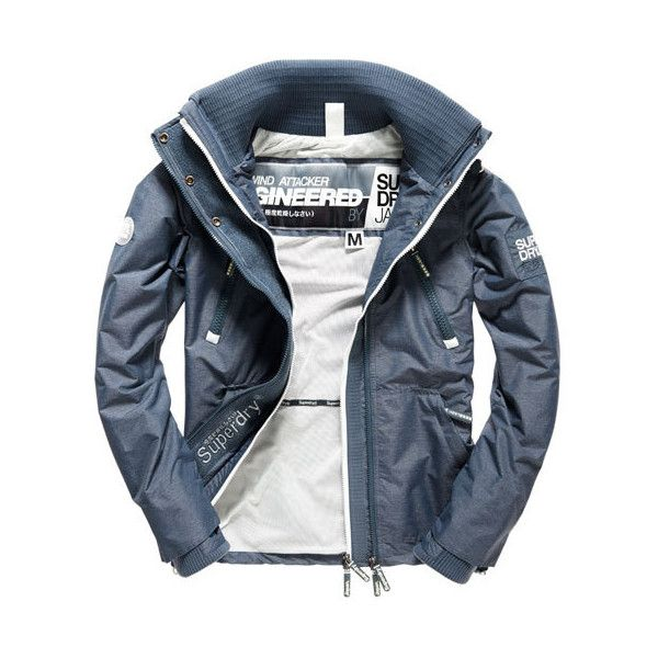 Superdry Technical Wind Attacker Jacket (£84) ❤ liked on Polyvore featuring men's fashion, men's clothing, men's activewear, men's activewear jackets, grey and mens activewear