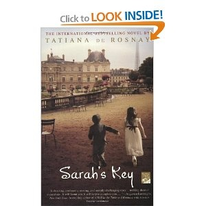 Sarah's Key by Tatiana de Rosnay  Summary: Paris, July 1942: Ten year-old Sarah is brutally arrested with her family in the Vel d'Hiv roundup, the most notorious act of French collaboration with the Nazis. But Sarah has locked her brother in their favorite hiding place and kept the key, thinking she will return soon. Paris, May 2002: On Vel d'Hiv's sixtieth anniversary, American journalist Julia Jarmond is asked to write about this black day in France's past. In the course of her…
