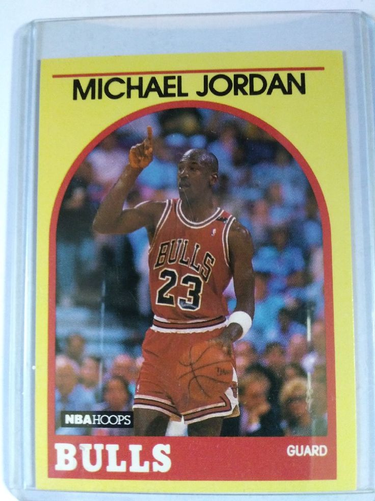 1990 NBA Hoops rare yellow border Michael Jordan