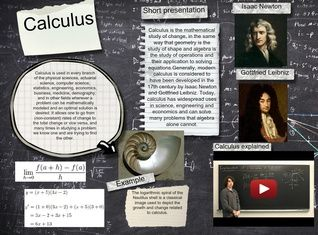 Calculus  is the mathematical study of change, in the same way that geometry is the study of shape and algebra is the study of operations and their application to solving equations. #glogster #glogpedia #calculus