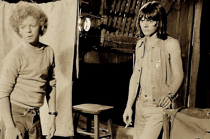 """Johnny Whitaker and Jack Wild behind the scenes of The Krofft's  """"Sigmund And The Sea Monsters,"""" 1973."""