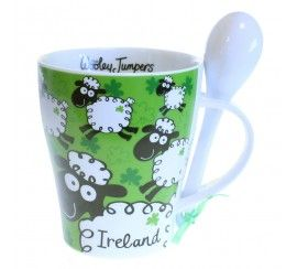 Irish Mug and Spoon Set, Woolley Jumpers
