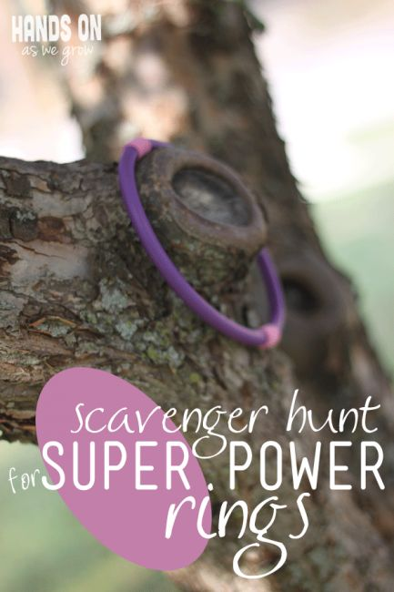 Have some fun with your kids when you go on a super power rings scavenger hunt!