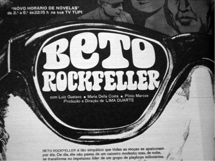 Beto Rockfeller - Tv Tupi - 1968 - teaser da novela na revista intervalo (observamos que o texto da revista esta errado - Beto era um vendedor de sapatos numa lojinha próxima a famosa rua de são Paulo - Rua augusta)