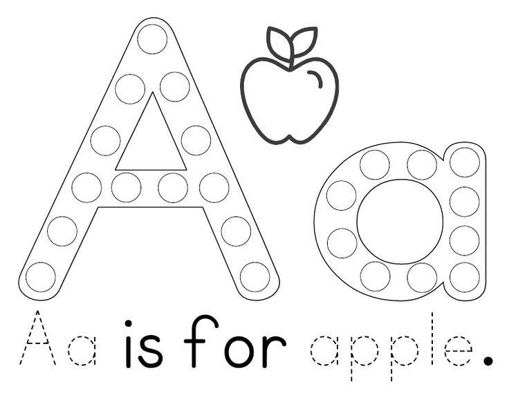 Free Printable: Aa is for Apple Tot & Preschool Pack