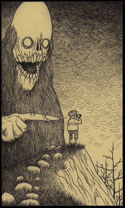 This Artist Dreams Up Awesomely Creepy Monsters, Then Draws Them On Post-It…
