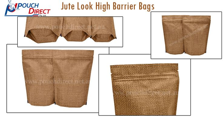 Our #JuteLookHighBarrierBags are an #ecoFriendly #packaging solution as they are biodegradable and #recyclable. We offer our bags in stand up pouch shape that have the capacity to stand steadily on the shelves due to their unique structure. More Information Visit at http://www.pouchdirect.net.au/jute-look-high-barrier-bags.html
