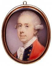 Thomas Gage, Miniature of Gage by Jeremiah Meyer, R.A., ca. 1775  - In January 1775, Gage received orders from London to take decisive action against the growing rebellion.[71] Given intelligence that the rebels had been stockpiling weapons at Concord, Massachusetts, he ordered a troop of British regulars to march there on the night of 18 April to confiscate them