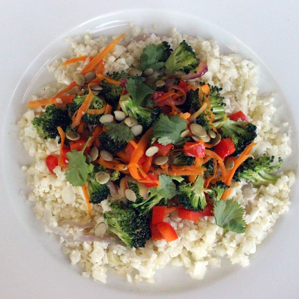 "Paleo Perfect: Cauliflower & ""Rice"" Stir-Fry"