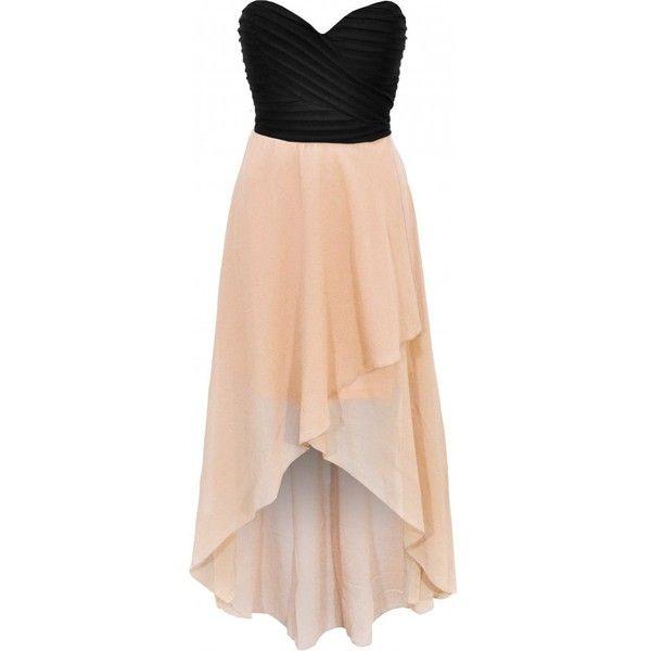 Spoiled Brat Bodice Hi-Low Maxi Dress (225 BRL) ❤ liked on Polyvore featuring dresses, vestidos, robe, tops, short and long dresses, dip hem dress, hi lo maxi dress, hi lo dresses and pink hi low dress
