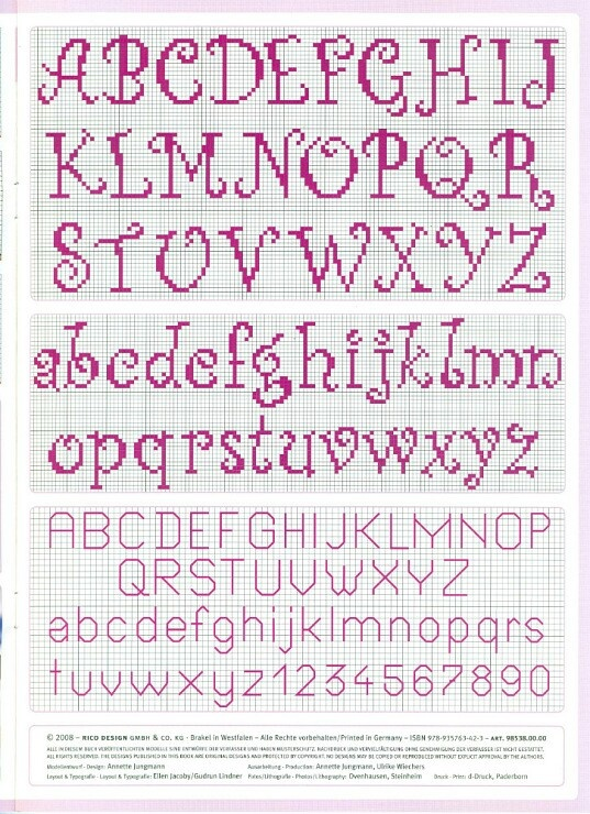 cross stitch alphabet Mais