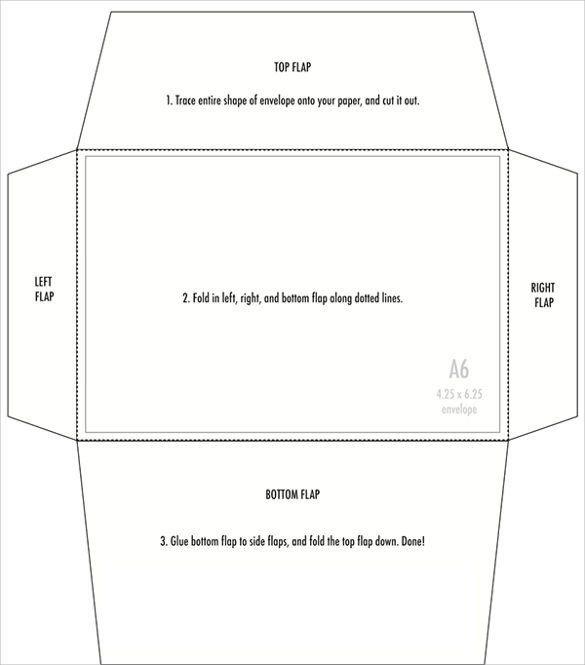 5x7 Envelope Template Word 4 X 6 Templates Envelope Printing Template Envelope Template Free Printable Envelopes